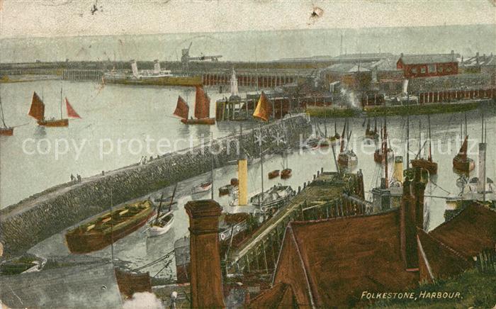 AK / Ansichtskarte Folkestone Harbour Kat. Shepway