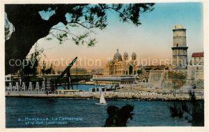 AK / Ansichtskarte Marseille Bouches du Rhone Cathedrale et Fort Saint Jean