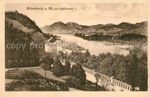 AK / Ansichtskarte Rolandseck Panorama Blick ueber den Rhein mit Drachenfels Kat. Remagen