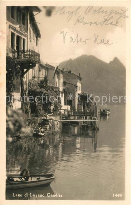AK / Ansichtskarte Gandria Lago di Lugano Haeuserpartie am Luganer See Kat. Gandria