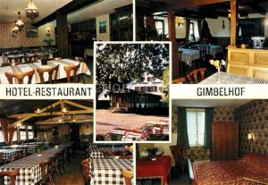AK / Ansichtskarte Lembach Bas Rhin Elsass Hotel Restaurant Gimbelhof Gastraeume Zimmer Kat. Lembach