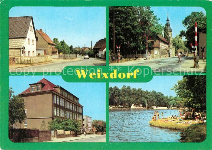AK / Ansichtskarte Weixdorf Moritzburger Str Kulturhaus Polytechnische Oberschule Freibad Kat. Dresden