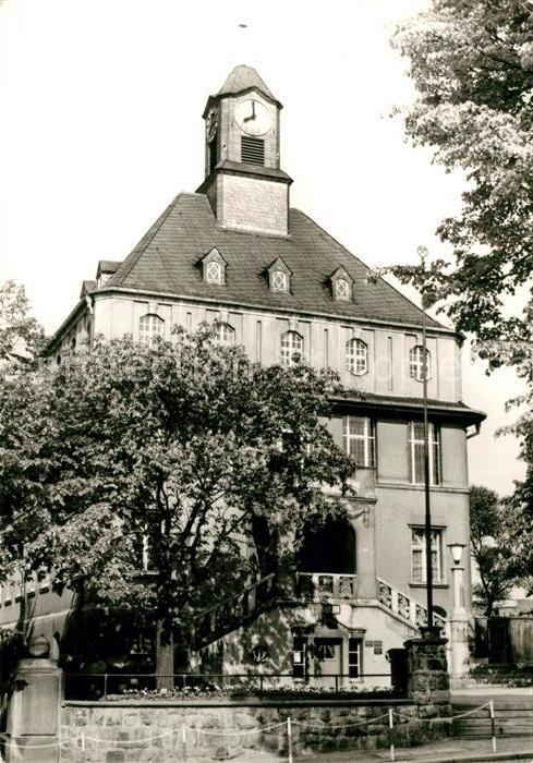 AK / Ansichtskarte Lugau Erzgebirge Rathaus Kat. Lugau Erzgebirge