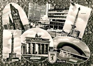 AK / Ansichtskarte Berlin Siegessaeule Bahnhof Zoo Brandenburger Tor Kongresshalle Funkturm Kat. Berlin
