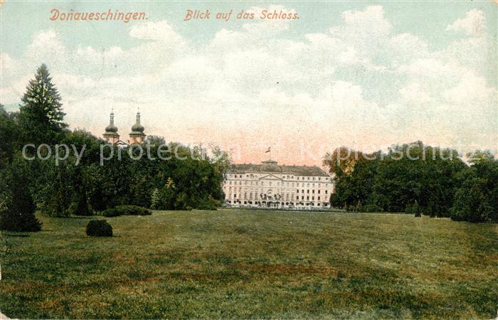 AK / Ansichtskarte Donaueschingen Schloss Kat. Donaueschingen