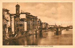 AK / Ansichtskarte Firenze Toscana Veduta dell Arno col Ponte San Trinita Kat. Firenze