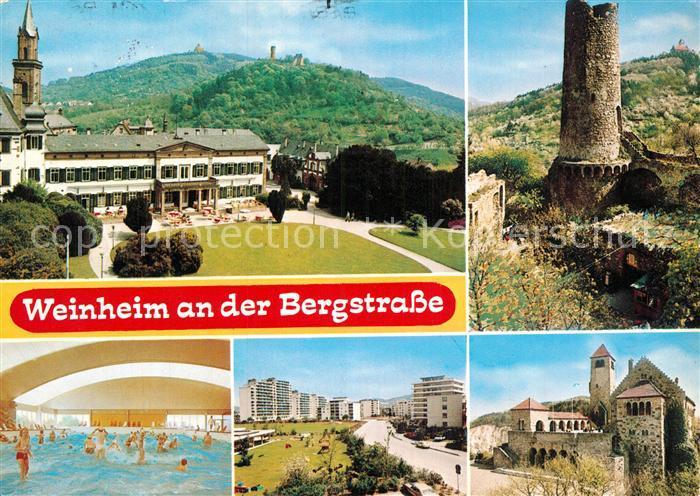 ak weinheim hohensachsen rathaus kirche hallenbad nr 6368121 oldthing ansichtskarten. Black Bedroom Furniture Sets. Home Design Ideas