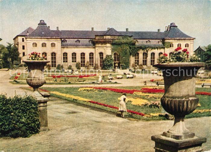 AK / Ansichtskarte Gotha Thueringen Orangerie mit Heinrich Heine Bibliothek Kat. Gotha
