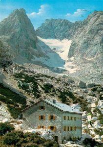 AK / Ansichtskarte Blaueishuette Berghaus Blaueisspitze Hochkalter Gletscher Kat. Hochkalter Ramsau