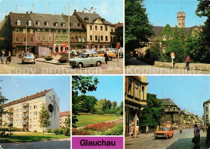 AK / Ansichtskarte Glauchau Markt Schloss Forderglauchau Rothenbacher Kirchsteig Rosarium Dr Friedrichs Strasse Kat. Glauchau