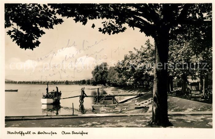 AK / Ansichtskarte Radolfzell Bodensee Partie am Seeufer Kat. Radolfzell am Bodensee