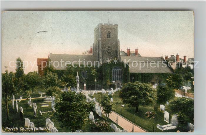 AK / Ansichtskarte Folkestone Parish Church Cemetery Kat. Shepway