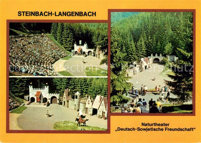 AK / Ansichtskarte Steinbach Langenbach Naturtheater Deutsch Sowjetische Freundschaft Kat. Schleusegrund