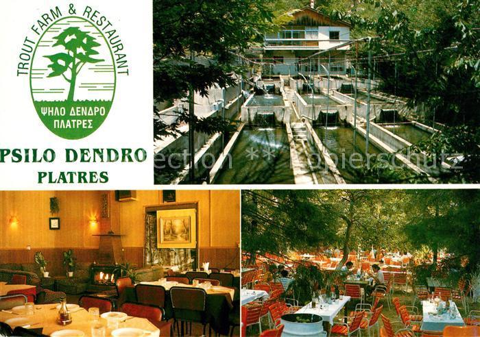AK / Ansichtskarte Platres Cyprus Zypern Trout Farm und Restaurant Psilo Dendro Kat. Zypern