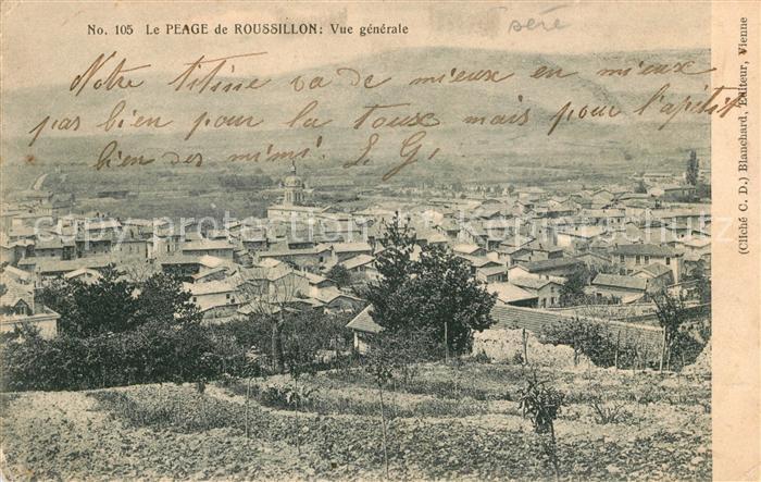 AK / Ansichtskarte Le Peage de Roussillon Panorama Kat. Le Peage de Roussillon