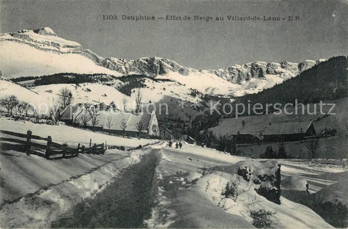 AK / Ansichtskarte Villard de Lans Winterlandschaft Kat. Villard de Lans