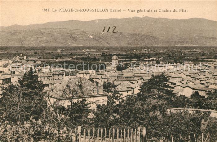AK / Ansichtskarte Le Peage de Roussillon Panorama Chalne du Pilat Kat. Le Peage de Roussillon