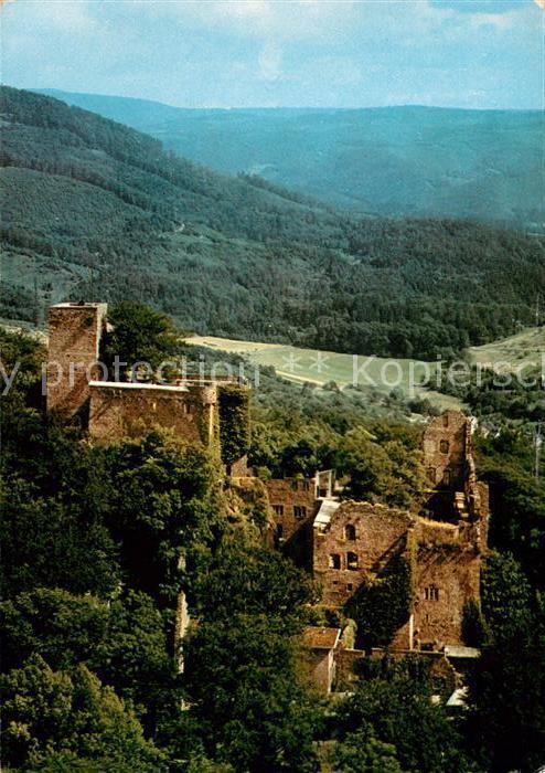 AK / Ansichtskarte Baden Baden Altes Schloss Ruine Fliegeraufnahme Kat. Baden Baden