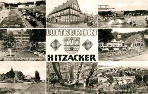 AK / Ansichtskarte Hitzacker Elbe Schwimmbad Altes Zollhaus Kurhotel Waldfrieden Kirche Riesenkastanie Panorama Kat. Hitzacker (Elbe)
