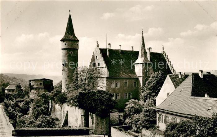 AK / Ansichtskarte Ochsenfurt Nikolaus und dicker Turm mit Landratsamt Kat. Ochsenfurt