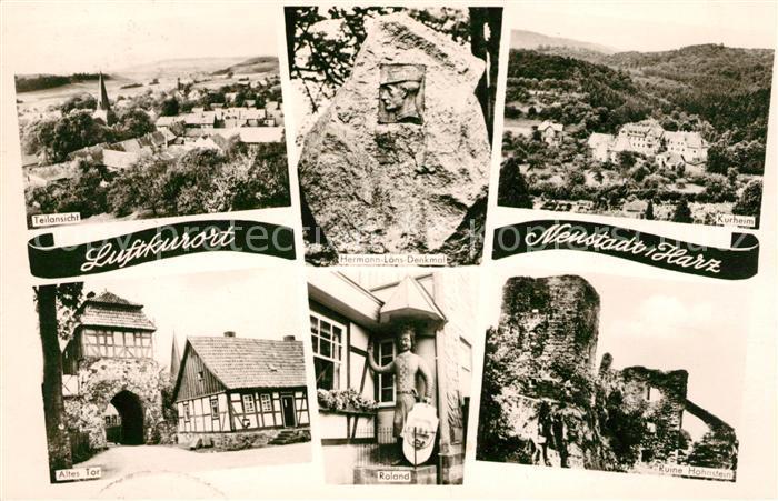 AK / Ansichtskarte Neustadt Harz Kurheim Altes Tor Roland Ruine Hohnstein  Kat. Neustadt Harz