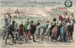 AK / Ansichtskarte Leipzig Einzug zur Erinnerung an die Begruendung der Universitaet Kat. Leipzig