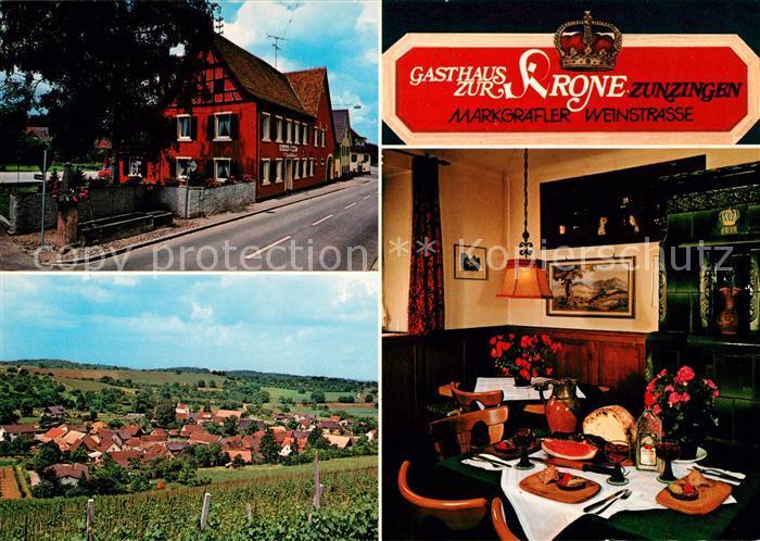 AK / Ansichtskarte Zunzingen Gasthaus zur Krone Kat. Muellheim