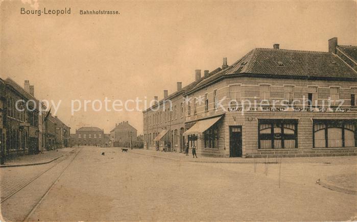 AK / Ansichtskarte Bourg Leopold Bahnhofstrasse Kat.
