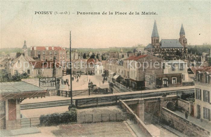 AK / Ansichtskarte Poissy Panorama Place de la Mairie Kat. Poissy
