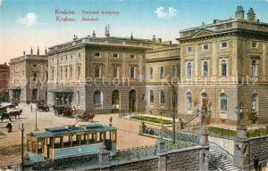 AK / Ansichtskarte Krakow Krakau Bahnhof