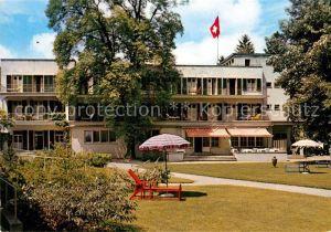 AK / Ansichtskarte Schinznach Bad Kurhotel Habsburg Schweizer Flagge Kat. Schinznach Bad