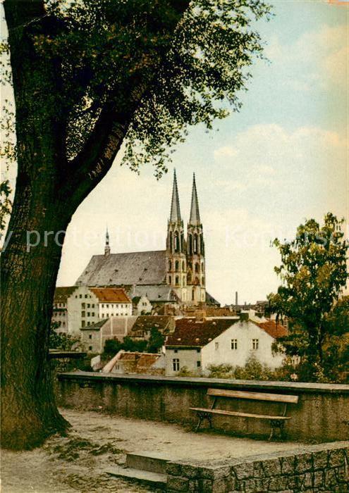 AK / Ansichtskarte Goerlitz Sachsen Peterskirche vom Friedhof aus gesehen Kat. Goerlitz