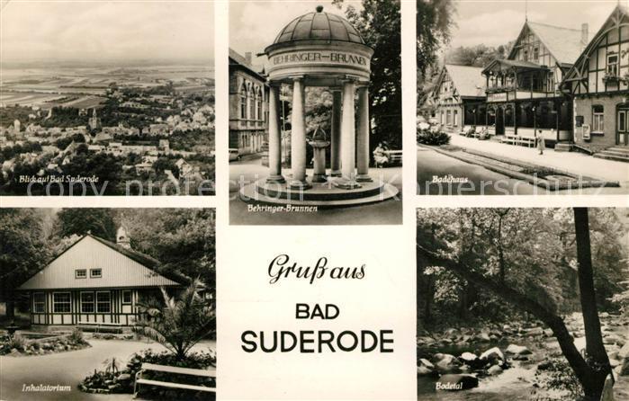 AK / Ansichtskarte Bad Suderode Behringer Brunnen Badehaus Inhalatorium  Kat. Bad Suderode