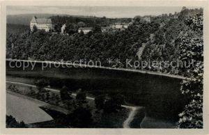 AK / Ansichtskarte Burgk Saale Orla Kreis Schloss Blick vom Roehrensteig  Kat. Burgk