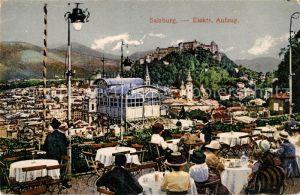 AK / Ansichtskarte Salzburg Oesterreich Elektrischer Aufzug Terrassencafe Kat. Salzburg