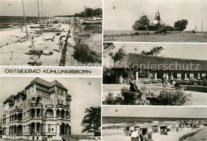 AK / Ansichtskarte Kuehlungsborn Ostseebad Strand FDGB Erholungsheim Schloss am Meer Leuchtturm Konzertgarten Kat. Kuehlungsborn
