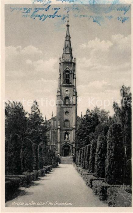 AK / Ansichtskarte Gersdorf Chemnitz Kirche Kat. Gersdorf Hohenstein Ernstthal