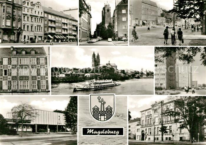 AK / Ansichtskarte Magdeburg Karl Marx Str St Sebastian Kirche Halberstaedter Str Alter Markt Elbe Dom IFA Vertrieb Otto von Guericke Str Kulturhaus des Handwerks Kat. Magdeburg