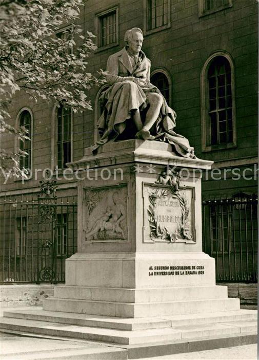 AK / Ansichtskarte Berlin Denkmal Alexander von Humboldt Kat. Berlin