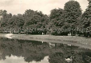 AK / Ansichtskarte Gorzow Wlkp. Teich Park Kat. Landsberg Ostbrandenburg