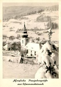AK / Ansichtskarte Warmensteinach Winterlandschaft Kat. Warmensteinach Fichtelgebirge