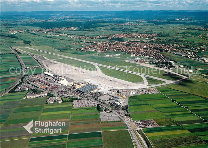 AK / Ansichtskarte Stuttgart Flughafen Fliegeraufnahme Kat. Stuttgart