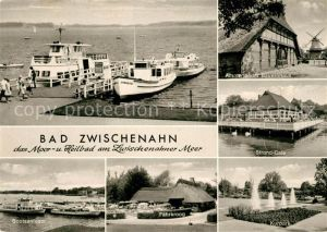AK / Ansichtskarte Bad Zwischenahn Strand Cafe Bootsanleger Faehrkroog Kurpark Ammerlaender Bauernhaus Kat. Bad Zwischenahn