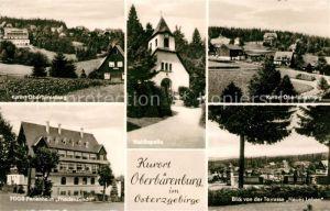 AK / Ansichtskarte Oberbaerenburg Baerenburg Teilansichten Waldkapelle FDGB Ferienheim Friedenswacht Terrasse Neues Leben