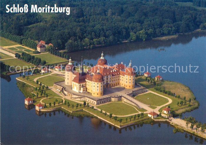 AK / Ansichtskarte Moritzburg Sachsen Schloss Moritzburg Fliegeraufnahme Kat. Moritzburg Dresden