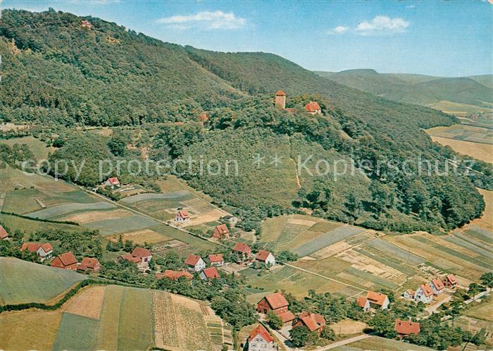 AK / Ansichtskarte Paschenburg Deckbergen Fliegeraufnahme mit Rosenthal mit Schullandheim Kat. Rinteln