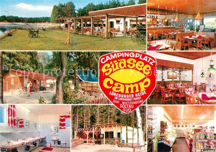 Ak Ansichtskarte Soltau Campingplatz Suedsee Camp Restaurant