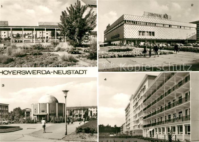AK / Ansichtskarte Hoyerswerda Neustadt Centrum Warenhaus Planetarium Kreiskrankenhaus  Kat. Hoyerswerda
