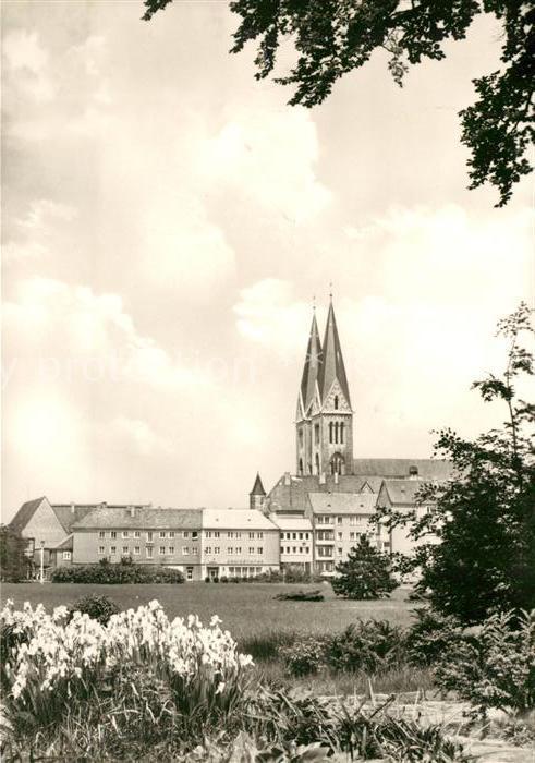 AK / Ansichtskarte Halberstadt Plantage Dom Kat. Halberstadt