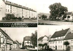 AK / Ansichtskarte Uebigau Elster Neubauten Marktplatz Kreuzstrasse Rathaus Kat. Uebigau Wahrenbrueck
